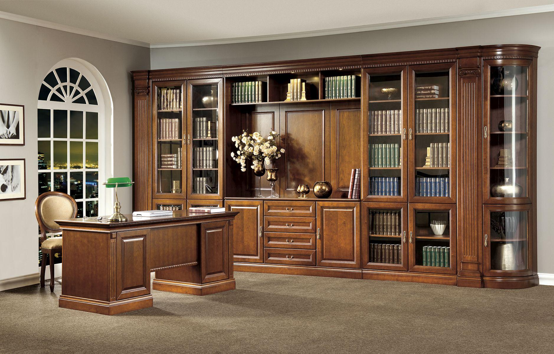 Классическая мебель для библиотеки barselona taranko. купить.
